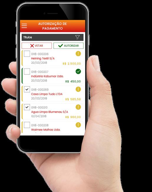 Aplicativo de Autorização de Pagamentos WK. App para Gestão